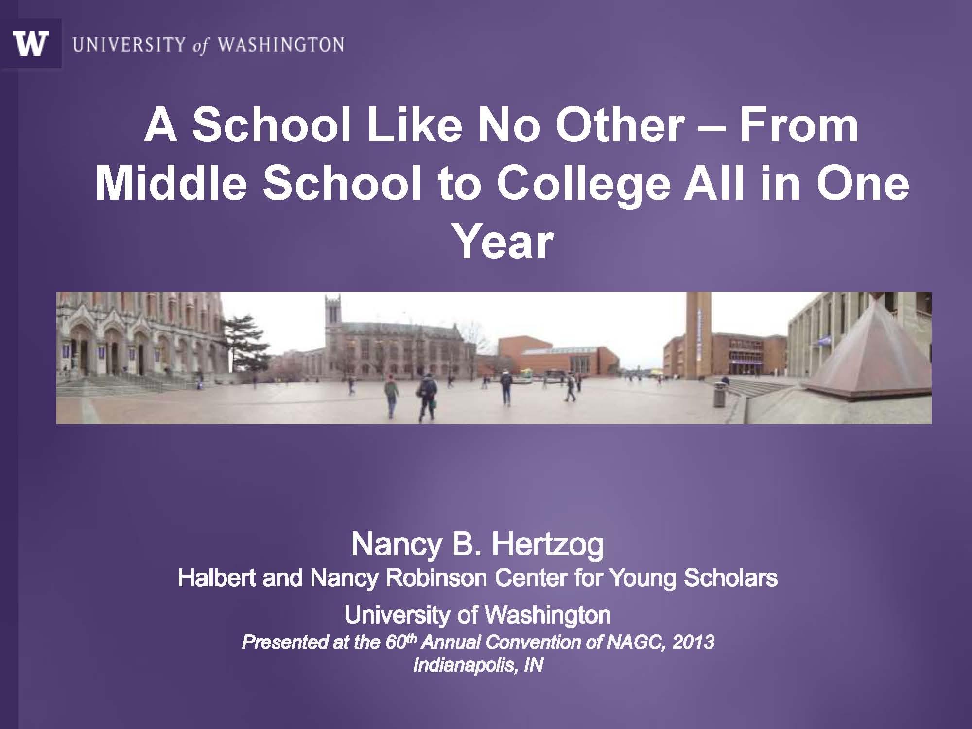 NAGC2013ASchoolLikeNoOther